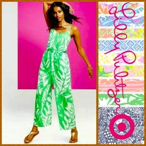 EUC | Lilly Pulitzer Green Palm Jumpsuit!!